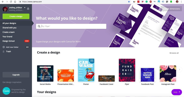 Canva.com - online design tool